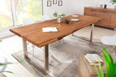 Jedálenský stôl Mammut 200cm agát 60mm HONEY- Platte