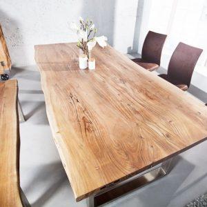 Jedálenský stôl Mammut 220cm agát 60mm NATUR- Platte