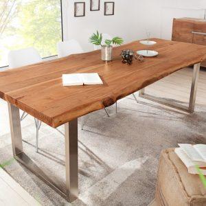 Jedálenský stôl Mammut 240cm agát 60mm HONEY- Platte