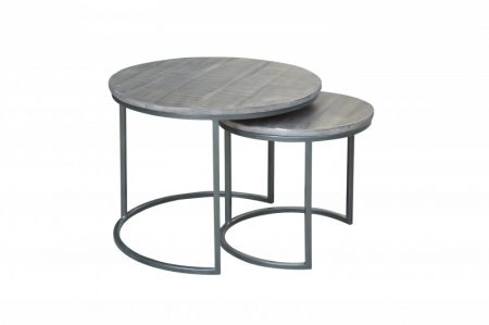 Konferenčný stolík Elements set 2ks Mango sivý