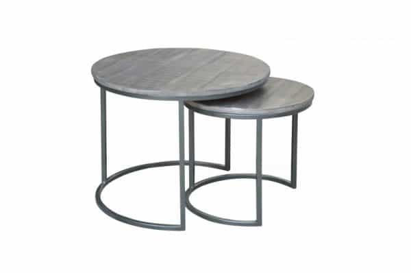 Konferenčný stolík Elements set 2ks Mango sivá