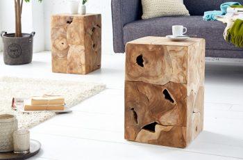 Konferenčný stolík Square 30cm teakové drevo