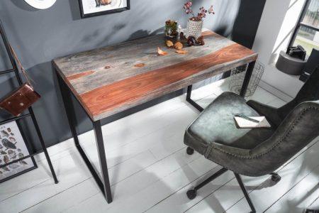 Písací stôl Elements 118cm sheesham smoke