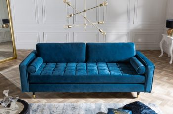 Sofa Cozy Velvet 225cm aquablue zamat