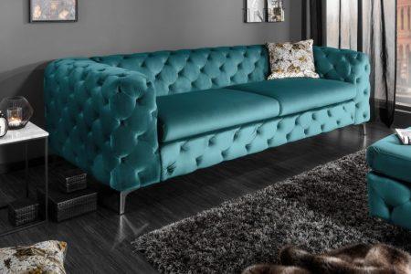 Sofa Modern Barock 240cm aqua