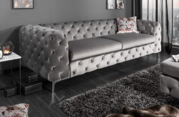 Sofa Modern Barock 240cm sivá