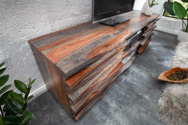 TV-stolík Relief 150cm sheesham smoke