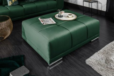 Taburet Elegancia 110cm smaragdzelená zamat