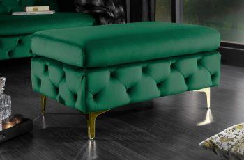 Taburet Modern Barock zelená zlatá