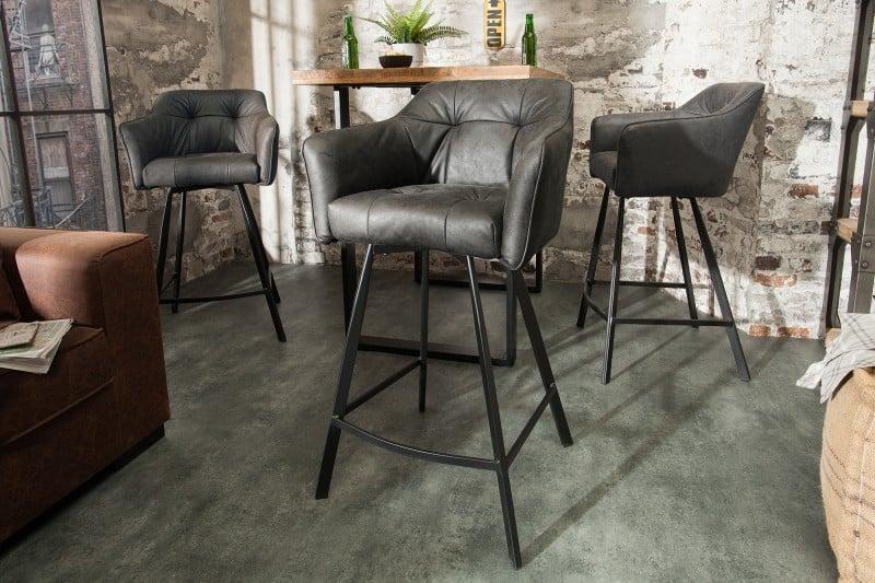barova stolicka siva