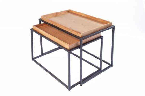 Konferenčný stolík Elements set 2ks dub (podnos)