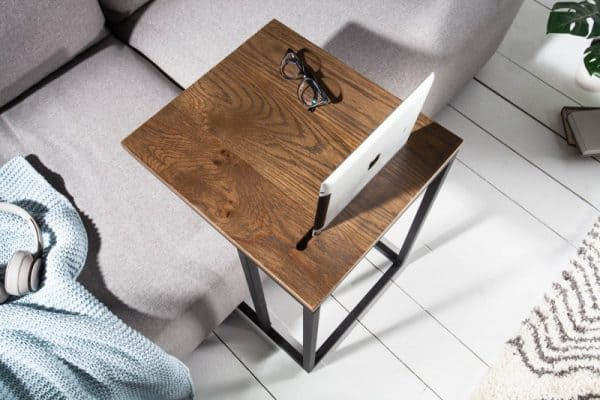 Konferenčný stolík s držiakom na tablet Elements 43cm dub
