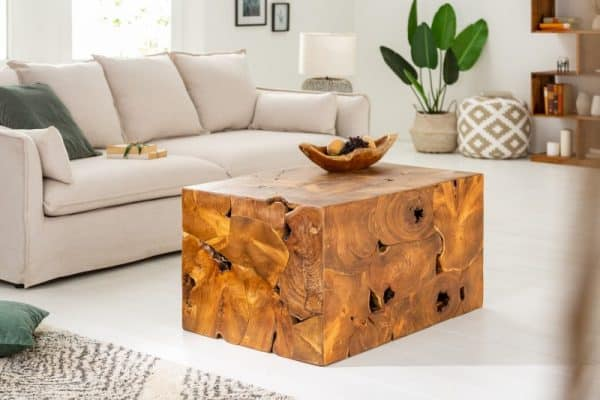 Konferenčný stolík Square 90cm teakové drevo