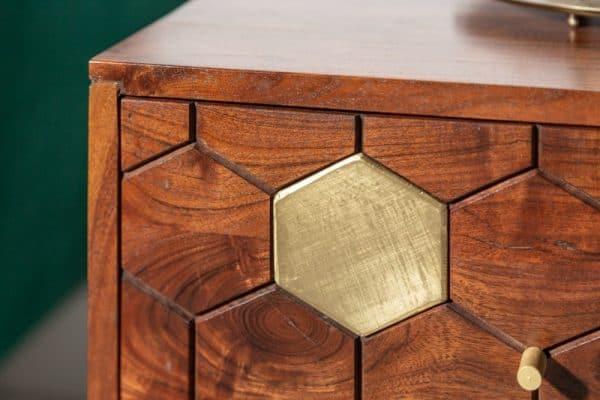 Nočný stolík Mystic Living 40cm agát