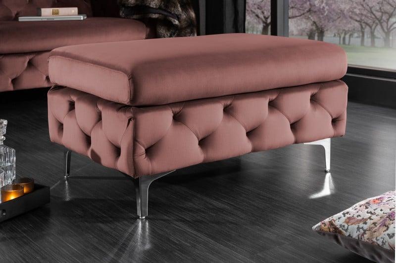 ružová taburetka
