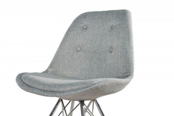 Stolička Scandinavia Retro sivá Struktur