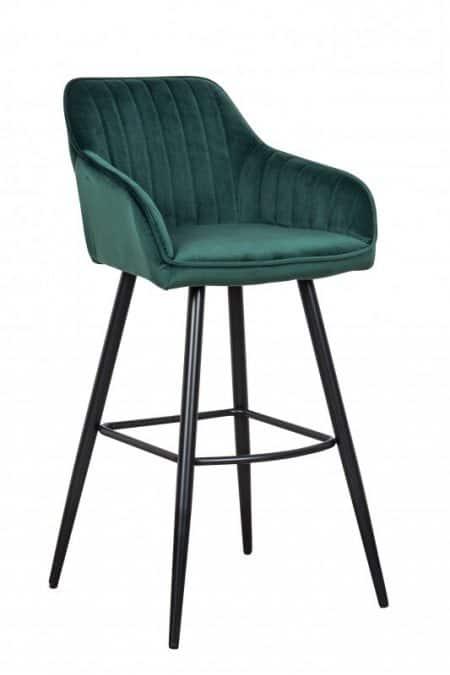 Zelená barová stolička Turin s područou