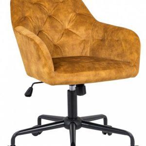 Kancelárska stolička Dutch Comfort senfžltá zamat