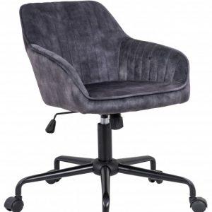 Kancelárska stolička Turin dunkelsivá zamat Armlehne