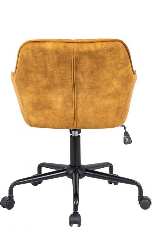 Kancelárska stolička Turin senfžltá zamat Armlehne