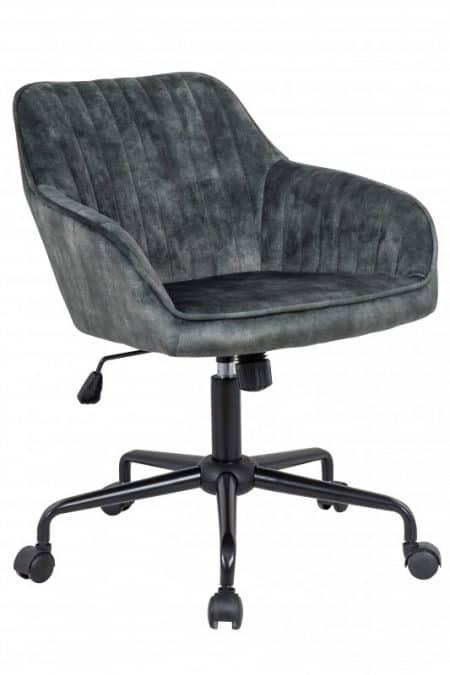 Zelená zamatová kancelárska stolička Turin s područou