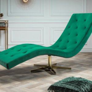Liege Relaxo smaragdzelená zamat Sternfuß zlatá