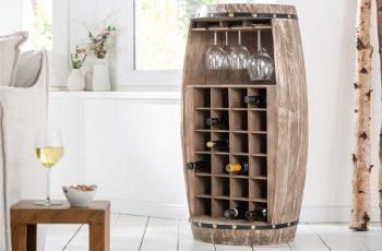 Regál na víno Bodega halb 97cm prírodná