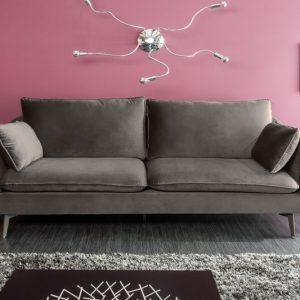 Sofa Famous II 210cm striebornošedá zamat