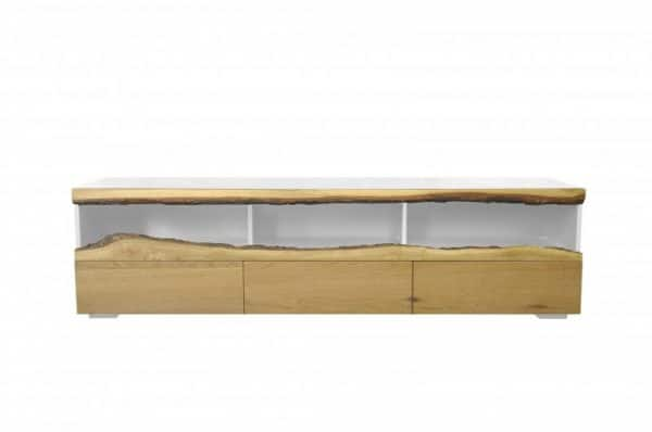 TV-stolík Wild Oak 180cm biela dub