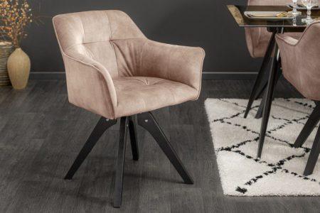 Béžová jedálenská stolička Loft - otočná