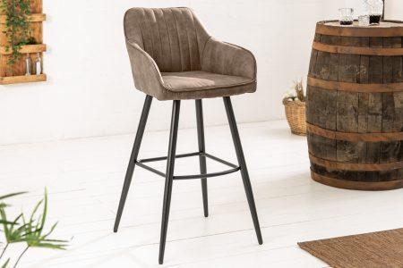 Béžovosivá barová stolička Turin s područou