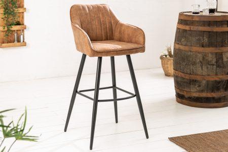 Hnedá barová stolička Turin vintage