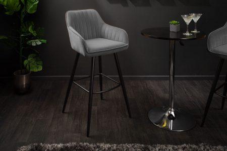 Sivá barová stolička Turin