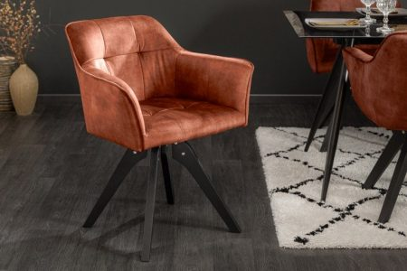 Hnedá jedálenská stolička Loft - otočná