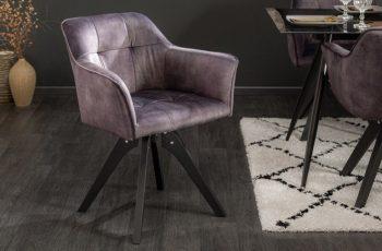 siva otocna jedalenska stolicka
