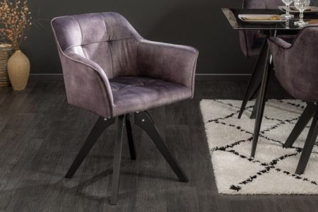 Sivá jedálenská stolička Loft - otočná