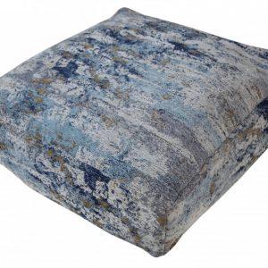 Bodenkissen Abstrakt 70cm blau béžová