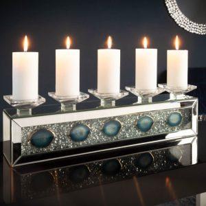 Kerzenhalter Diamonds Achat 61cm