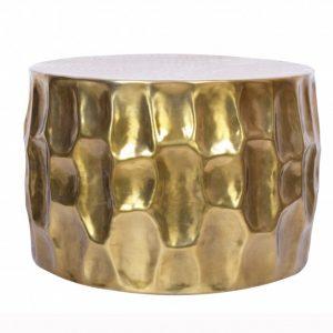Konferenčný stolík Organic Orient 55cm hliník zlatá