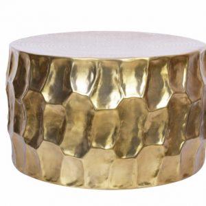 Konferenčný stolík Organic Orient hliník 70cm zlatá