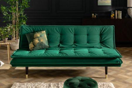 Zelená rozkladacia pohovka Magnifique 184cm smarag dzelená