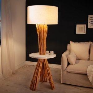 Stojanová lampa - naplavené drevo Servant 153cm