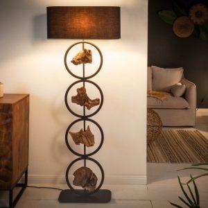 Stojanová lampa Elements 147cm čierna agát