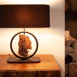 Stolová lampa Elements 55cm čierna agát