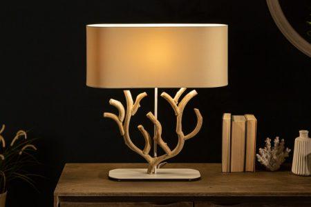 Stolová lampa Koralle 58cm béžová drevo