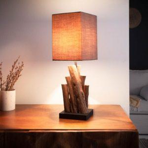 Stolová lampa Pure Nature 45cm hnedá železoholz