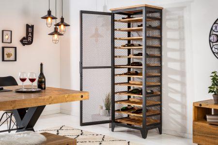 Skriňa na víno Bodega 184cm z píniového dreva
