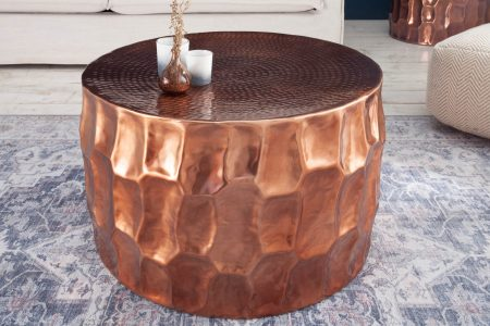 Konferenčný stolík Organic Orient 70cm hliník meď