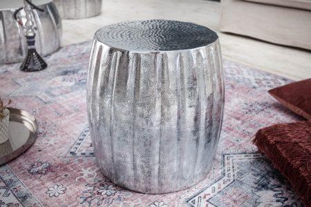 Konferenčný stolík Marrakesch 42 cm hliník strieborný