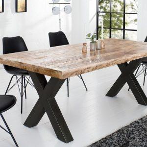 Jedálenský stôl Iron Craft 160cm Mango prírodná 70mm